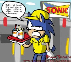 Sonic's part time job by BrokenTeapot