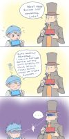 Prof. Layton and the Spoiled Apprentice by weezajin
