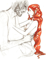 Sansa/Sandor sexy sketchy by hedgehog-in-snow