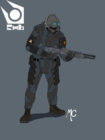 HL2 Overwatch Combine Unit by CrashyBandicoot