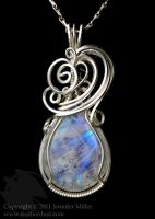 Glacial Fire Moonstone Pendant by Nambroth