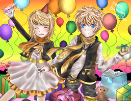 HBD to Len and Rin by Jqnn