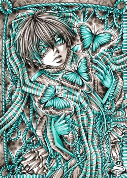 Morpho in Turquoise by DarkSena
