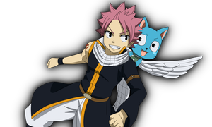 Natsu and Happy by Cantrona