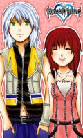 Kingdom Hearts: Riku x Kairi by iya-chan