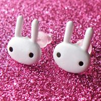 White Kawaii Bunni Earrings by AsianBunni