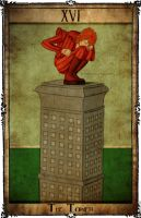 Bowie Tarot Collection - XVI - The Tower by Triever