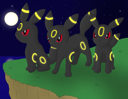AT: Umbreon's Night by The-3Dan