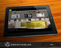 Nikon Web Design by creativeblox
