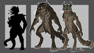 Physicalities of Werewolves-The Khajiit by kittygomou