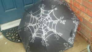 Neo Victorian Style Spider Web Umbrella Goth Anime by CyberFreakedd