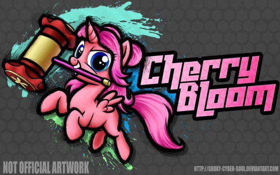 Commission: Cherry Bloom - Fighting is Magic by Groxy-Cyber-Soul