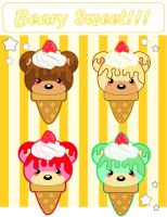 Beary Sweet Ice Cream Cones by MidniteHearts
