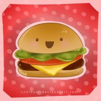 Kawaii Cheeseburger by CodiBear