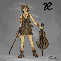 Allied Enemies ROW Faction Cellist by KevinMassey
