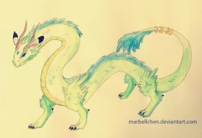 Aquarell Dragon by Marbellchen