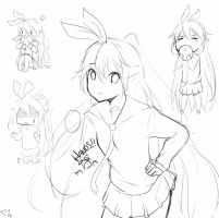 Chitoge, dooddle by Yuzas