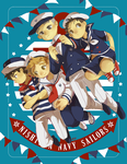 [Oofuri] Nishiura sailors by Viridilly