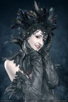 Leather and feathers  ............ gothic vampire by S-T-A-R-gazer