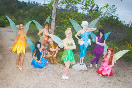 Pixie Hollow Group Cosplay by Glimmerwood by glimmerwood