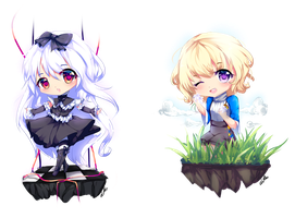 Redraw Prize Chibis by dathie
