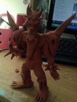 Oderus sculpture WIP by MochaTheDog