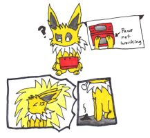 Jolteon Plays 3DS by DuskyUmbreon
