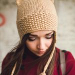 Beige Cat Beanie by NatalieKnit