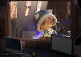 Super Sonico in a Music Studio by kixkillradio