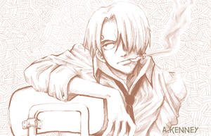 One Piece - Sanji Sketch by thegreatlimechan