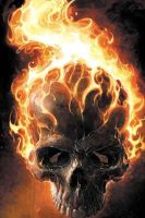 Flaming Skull by Doughy242