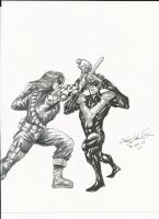 Winter Soldier vs Nightwing!! by craig1992