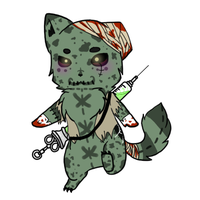 Moon Cat Adoptable: Zombie by Dark--Remorse