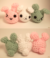 Dango Bunnies by Yarn-and-Ink