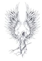 Archangel Tattoo Design by ShawnCoss