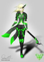 Flavia the lancer elf by Reksthemask