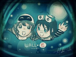 WALLE AND EVA by MygaV2011