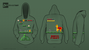 8-bit Challenge: Deviantart: The Game Hoodie by AmericanGirlHope