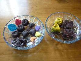 Hand-made chocolates by Camalla