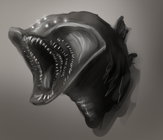 Fringehead Monster by Ahrjey