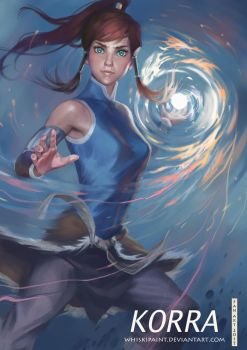 Korra fan art by whiskypaint