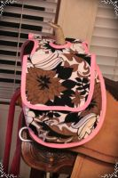 Pink Trim Saddle Horn Bag by CountryTinkerBelle