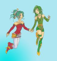 Terra and Rydia Request F-F-IV by Malva-Crystal