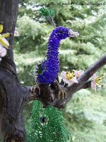 Beaded peacock - close view by lovebiser
