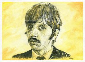 Ringo Starr / The Beatles - Watercolor and Ink by NateMichaels