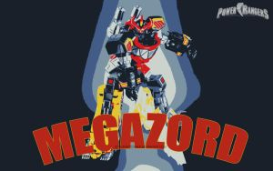 MMPR - MEGAZORD 4 by DesignsByTopher