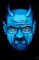 FAN ART Breaking Bad CRYSTAL BLUE DEVIL by jasinmartin