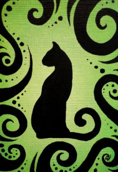 Green Cat by linmh