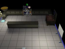 Sims 3 vexen working in his lab by TheeKozakura
