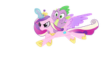 princess Cadence And Spike Vector by AndreaSemiramis